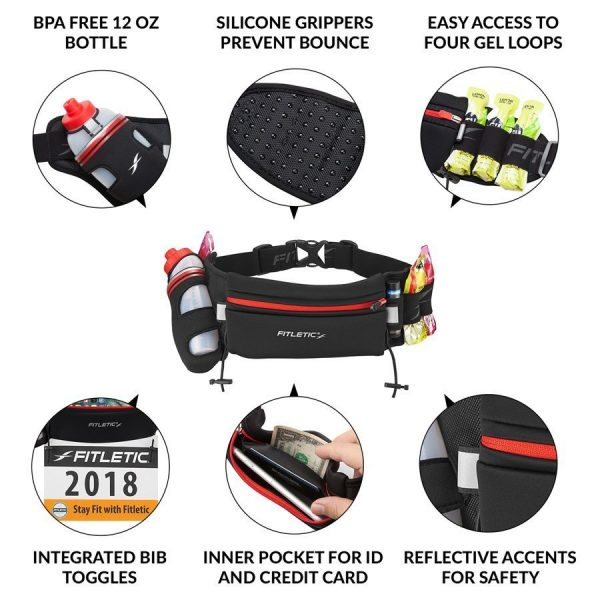 FITLETIC FULLY LOADED WATER AND GEL BELT 6